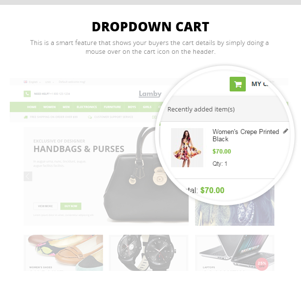 shoes store opencart template