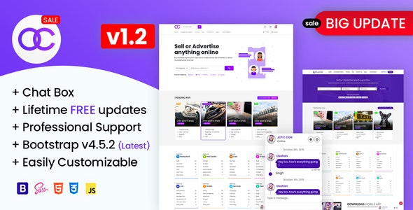 OBootstrap Classified | Bootstrap Responsive Website Template - Miscellaneous Site Templates