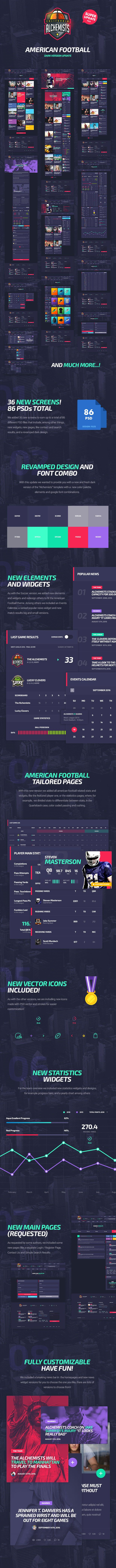 The Alchemists - Sports News PSD Template V4.0 + eSports & Gaming - 11