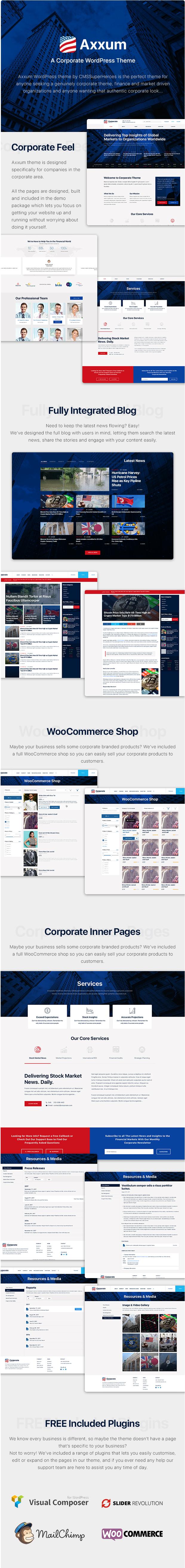 Axxum - Business & Company WordPress Theme