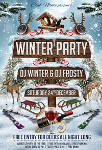 New Year Party Flyer Template - 1