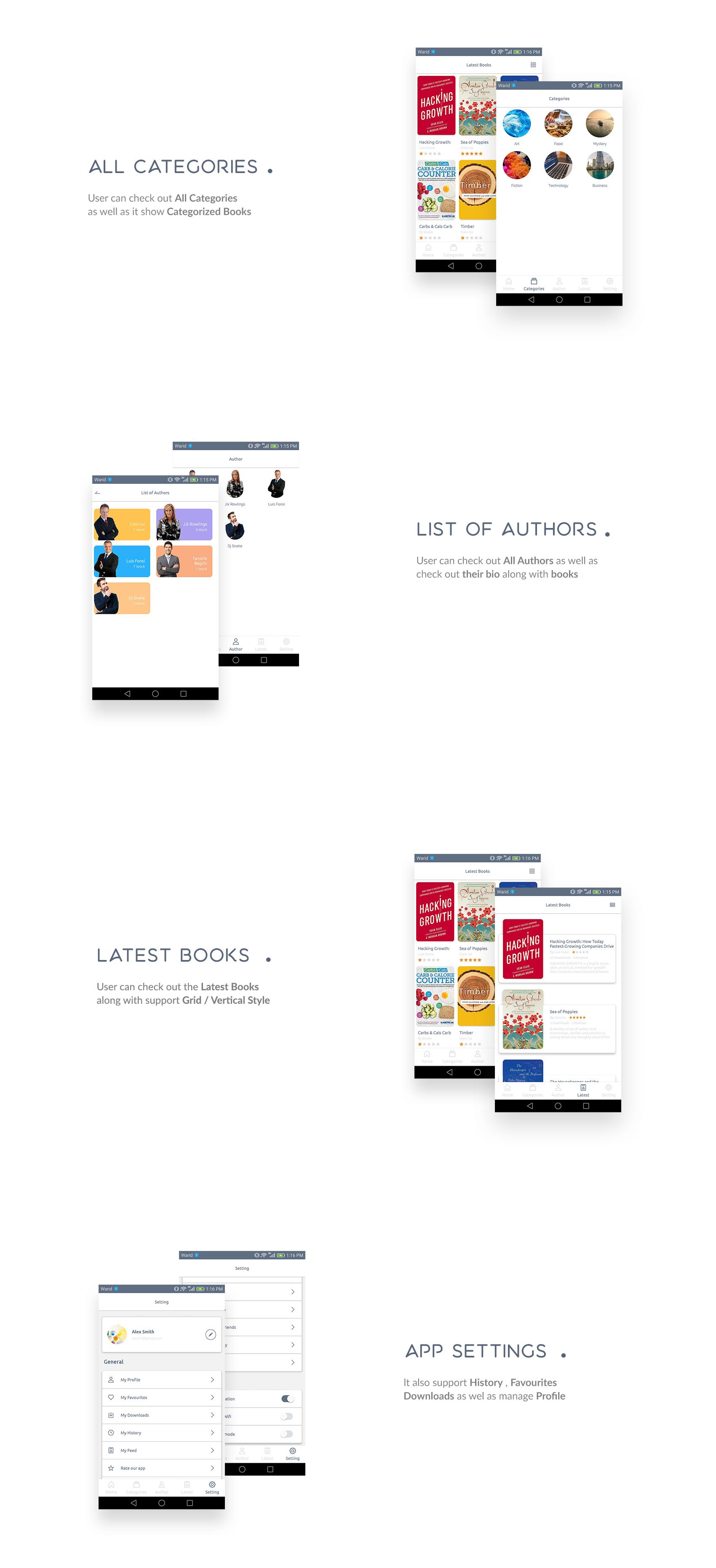 Books4u - Android Ebook App + Admin panel - 4
