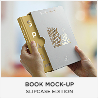 Square Book Mock-up / Dust Jacket Complete Edition - 6