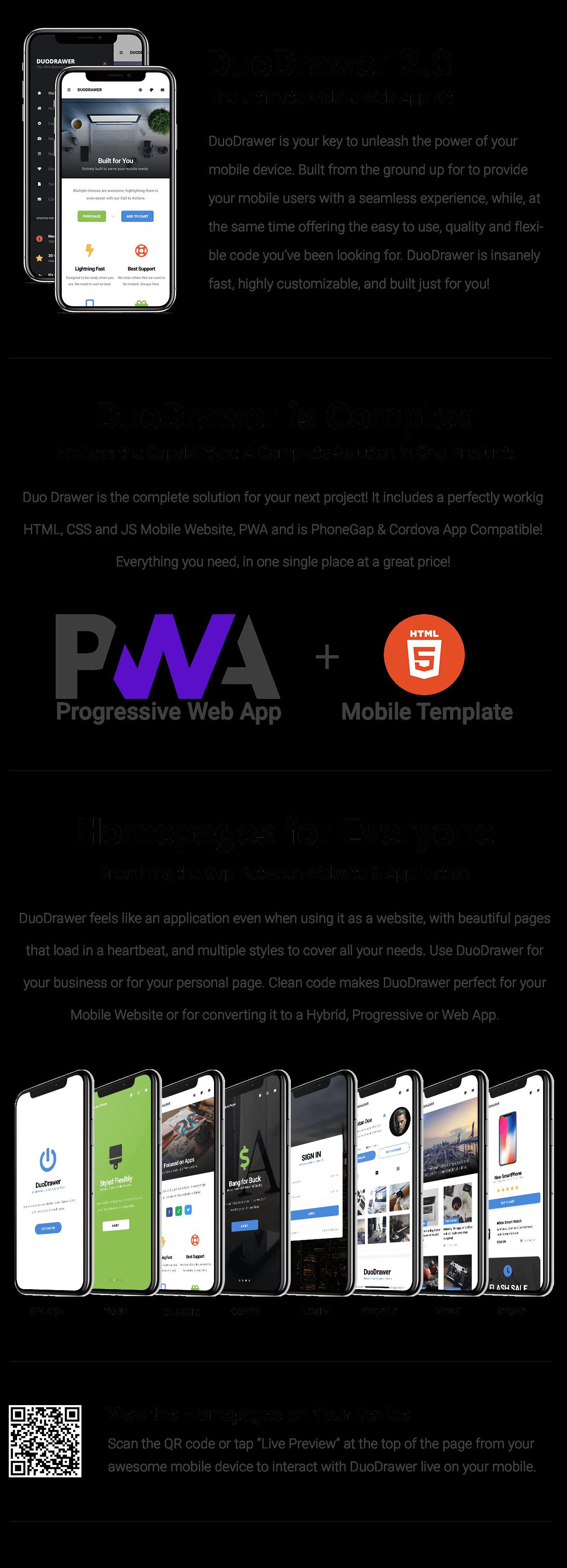 DuoDrawer Mobile   PhoneGap & Cordova Mobile App - 9