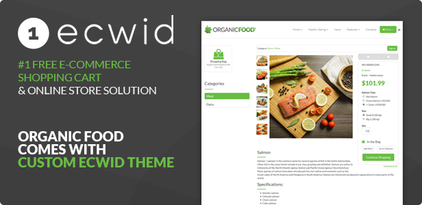 organic food responsive joomla template by dhsign themeforest