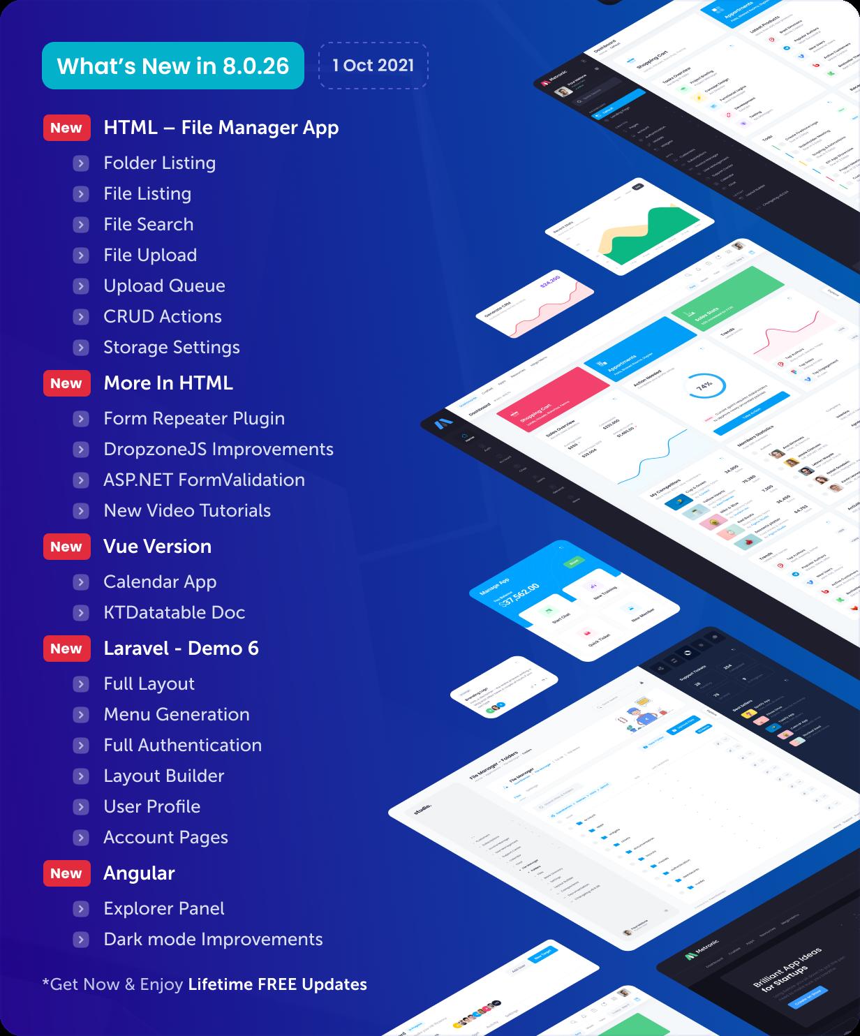 Metronic - Bootstrap 4/5 HTML, VueJS, React, Angular & Laravel Admin Dashboard Theme - 1