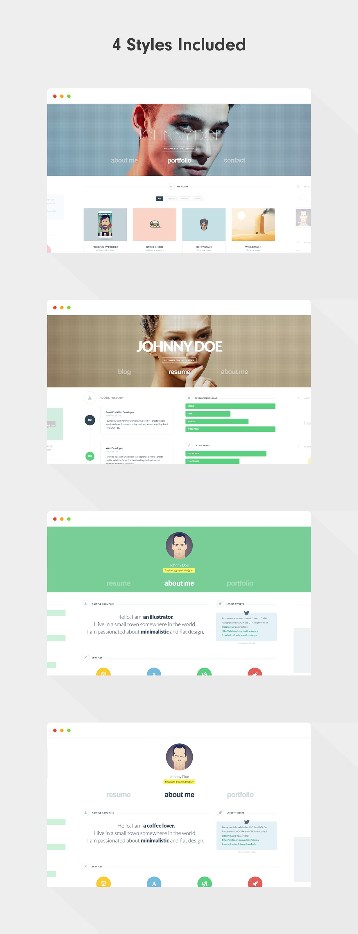 cvCard WP - Responsive vCard WordPress Theme