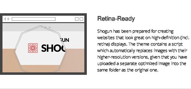 shogun features - retina-ready