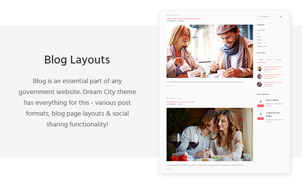 Dream City - City Portal & Government Municipal WordPress Theme
