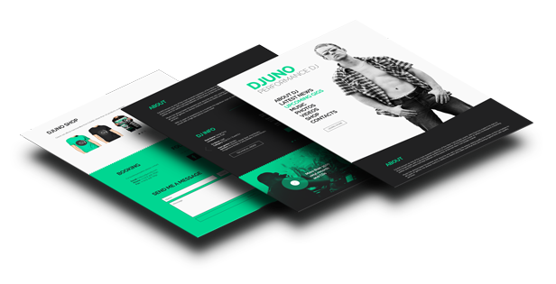 DJUNO - Ultimate DJ Website Adobe Muse Template