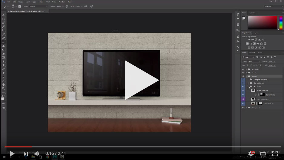 TV Mockup Video Demo
