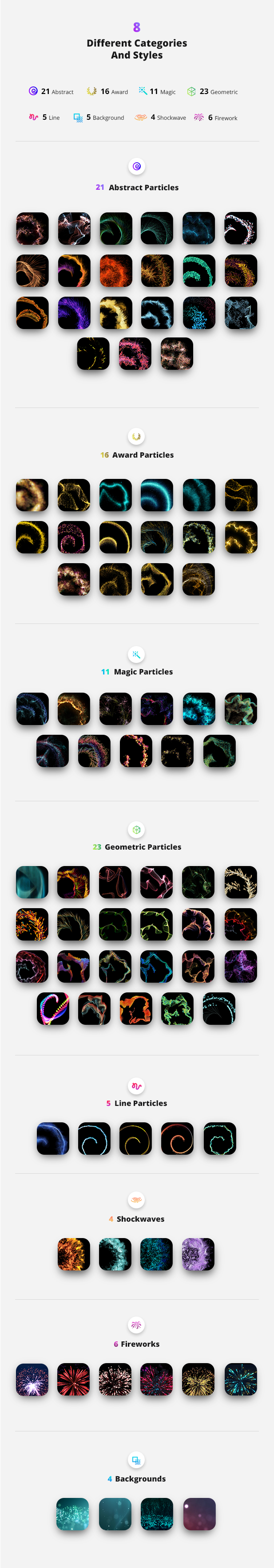 Particle Builder | Magical Pack: Magic Awards Abstract Particular Presets - 13