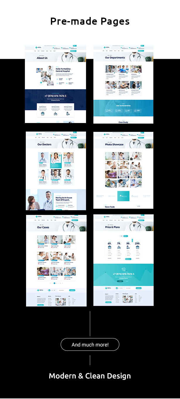 Medixer  Health & Clinic WordPress Theme - 4