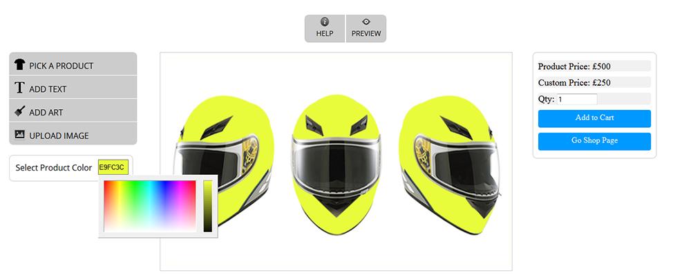 WooCommerce Custom Super Bowl Helmet Designer - 11