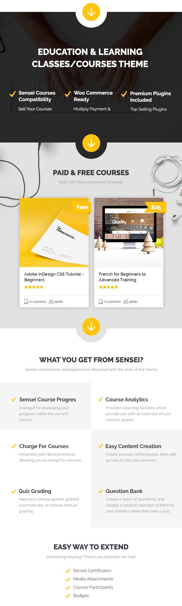 Skilled | School Education Courses WordPress Theme - 2