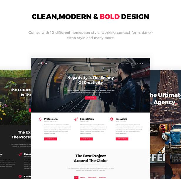 Kordon - Responsive One Page & Multi Page Portfolio Template - 1