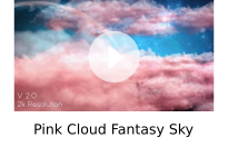 Pink Cloud Fantasy Sky