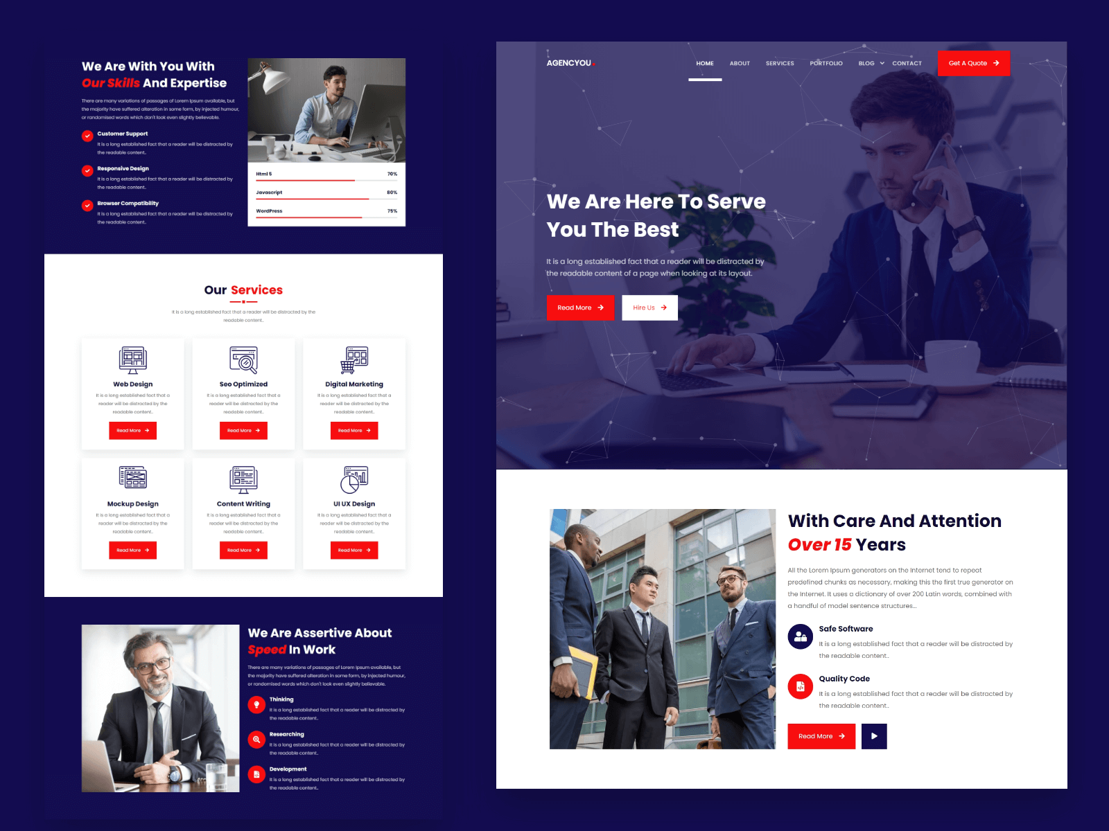AgencYou - One Page Agency Template - 1