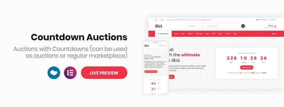iBid - Multi Vendor Auctions WooCommerce Theme - 7