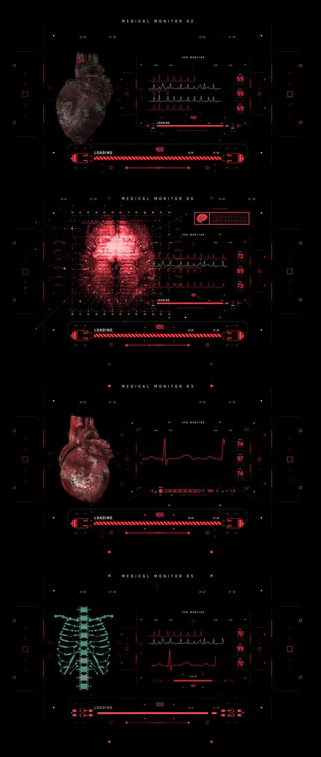 AE脚本-500个HUD高科技赛博朋克UI科幻界面元素动画预设包 Cyberpunk HUD UI 500+ 已修复中文版AE表达式报错插图37