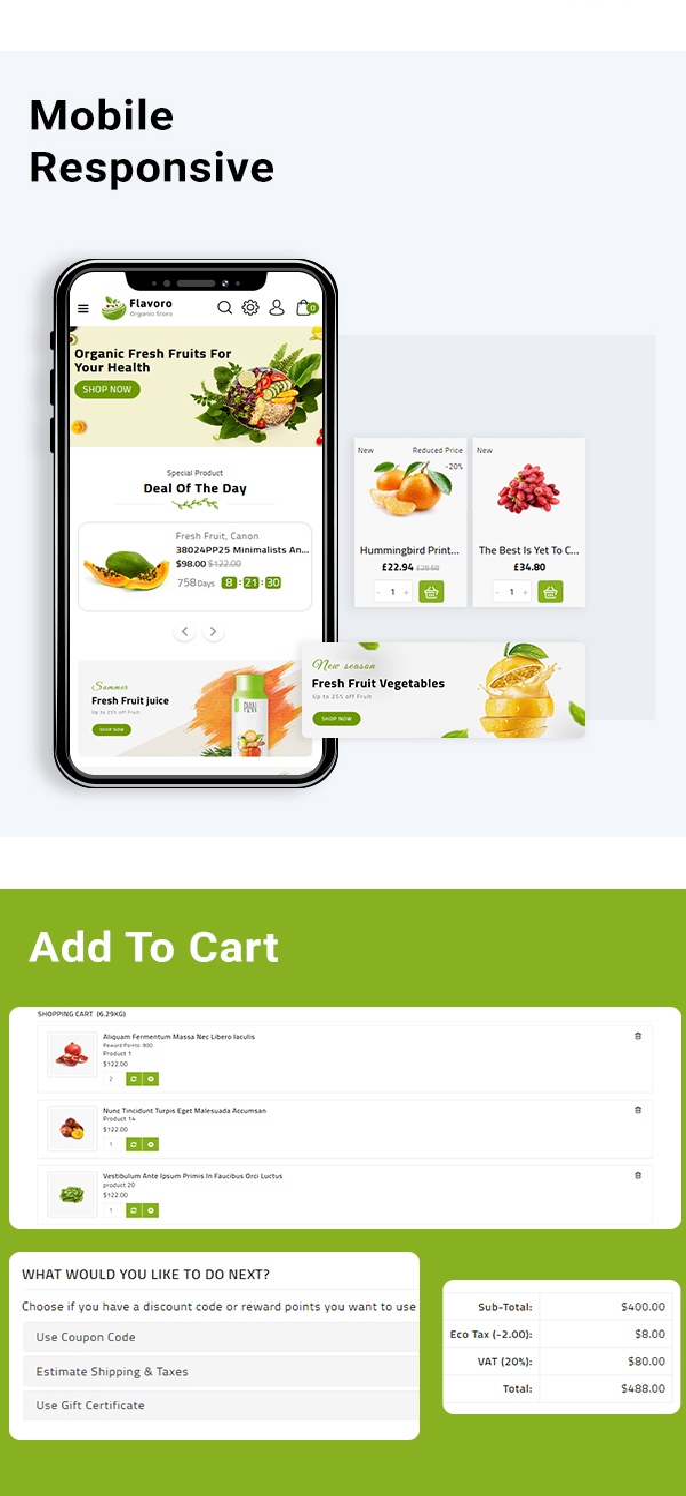 Flavero - Organic Food OpenCart Store - 3