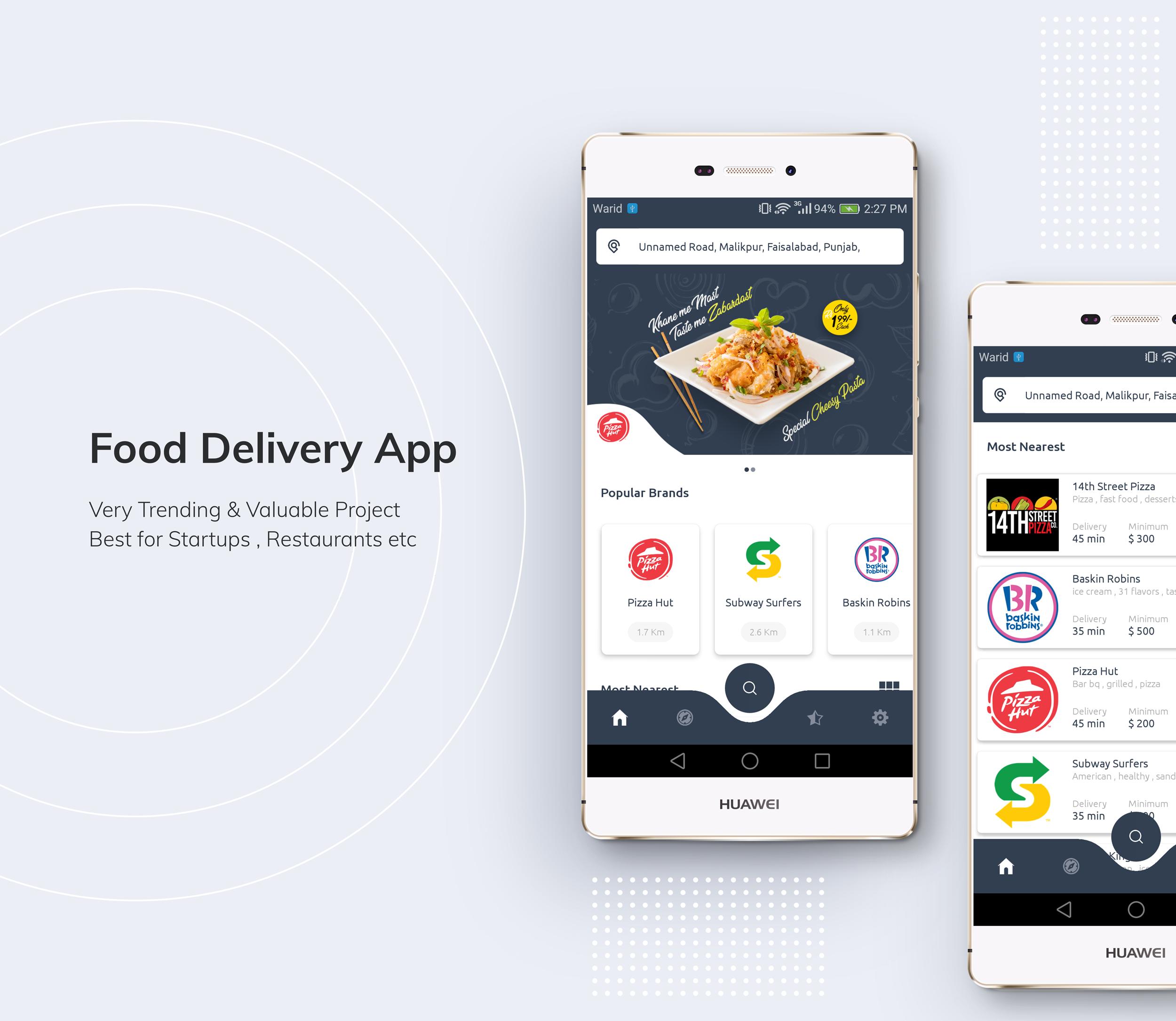Restaurante Food Delivery App com Delivery Boy - 1