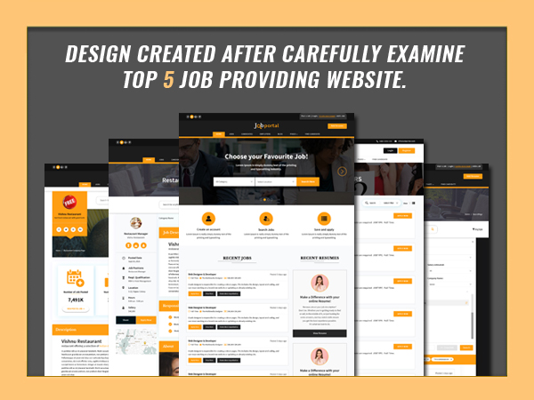 Job Portal Html Template Design Created