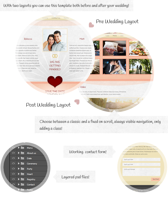 The Big Day - Responsive One-Page Wedding Template - 1
