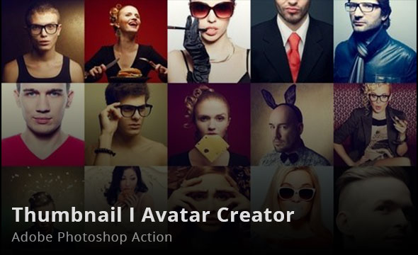 Thumbnail Avatar Creator Photoshop Action