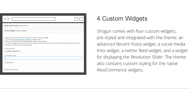shogun features - 4 custom widgets