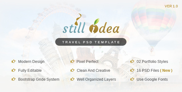Stillidea_Travel_Clean_PSD_Template