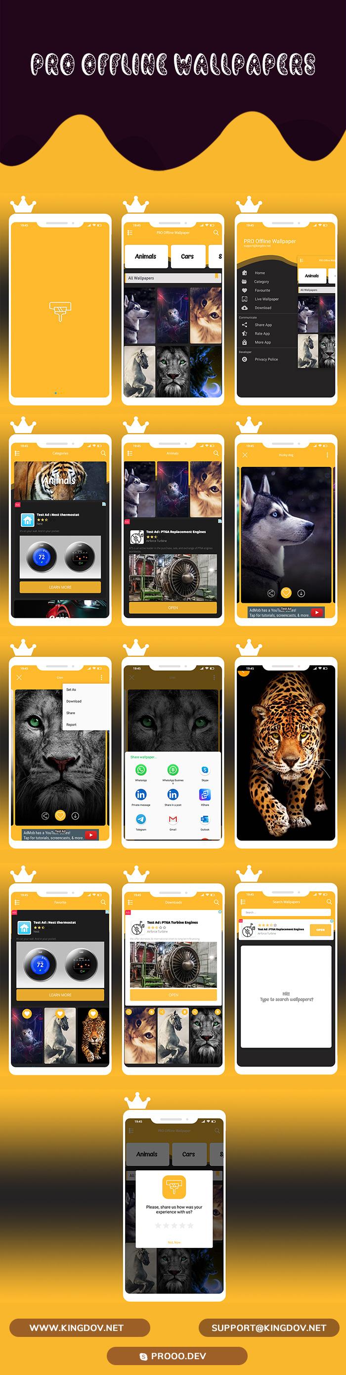 4k PRO Offline Wallpaper 2021 - AdMob & Facebook Ads & Native Ads - 2