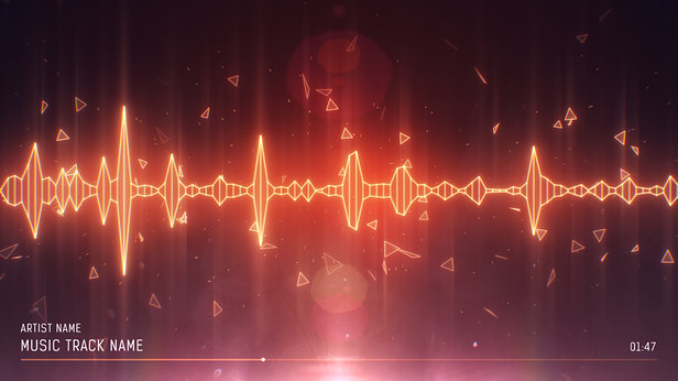 SoundVisible Audio Spectrum Visualizer | Linear Spikes Template | Color Preset: Fire