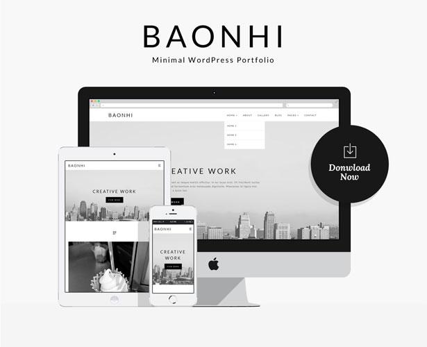 Baonhi - Minimal Portfolio WordPress Theme - 1