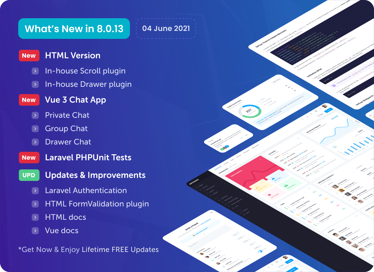 Metronic - Bootstrap 4/5 HTML, VueJS, React, Angular & Laravel Admin Dashboard Theme - 21