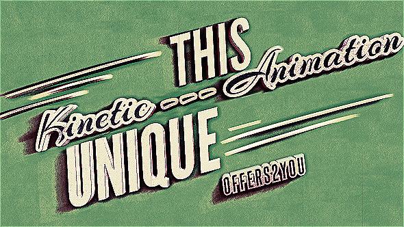 Vintage Retro Style | Kinetic Typography