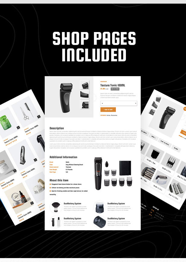 HairCutter - Barber, Beauty Shop and Salon Responsive HTML Template - 4