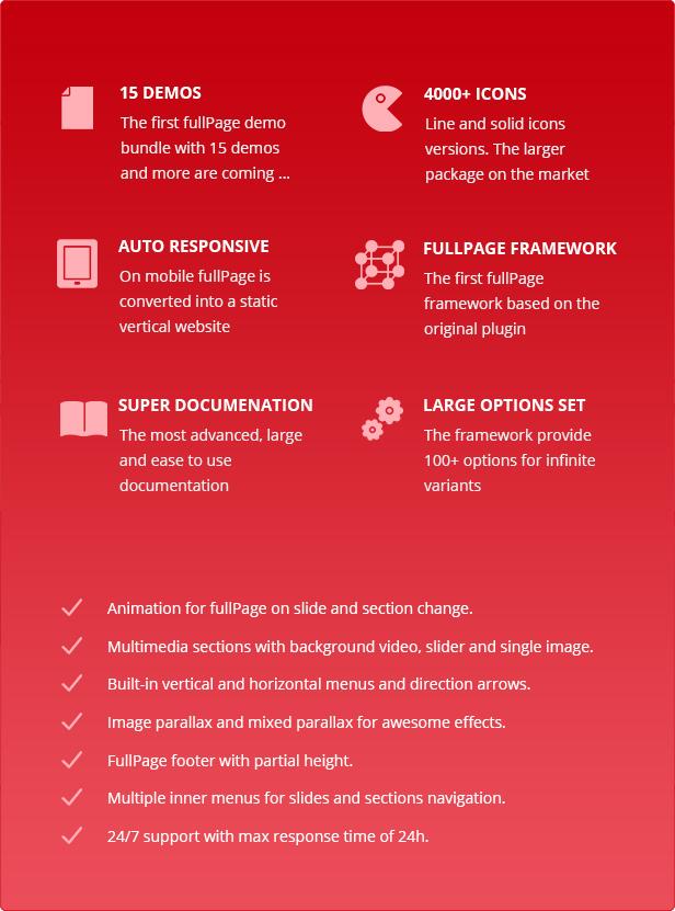 FullPage -  Fullscreen Multi Concept HTML5 Template - 3