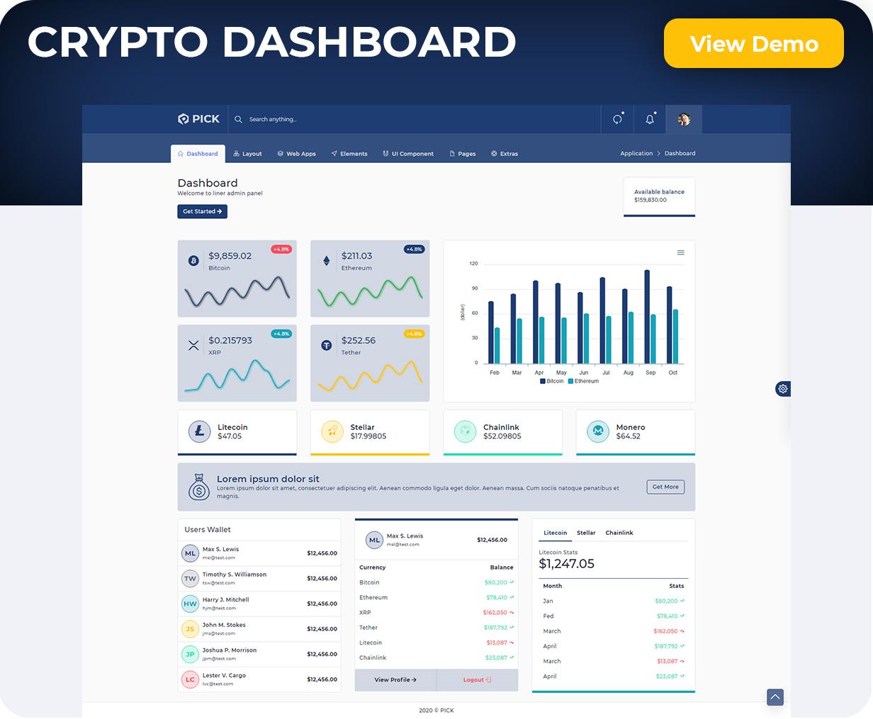 Pick - Bootstrap Responsive Admin Dashboard Template