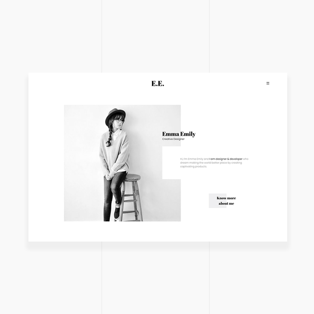 E.E. - The Unique Portfolio for Freelancers