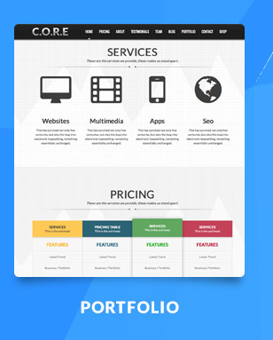 Core One - Multipurpose One Page Theme - 6