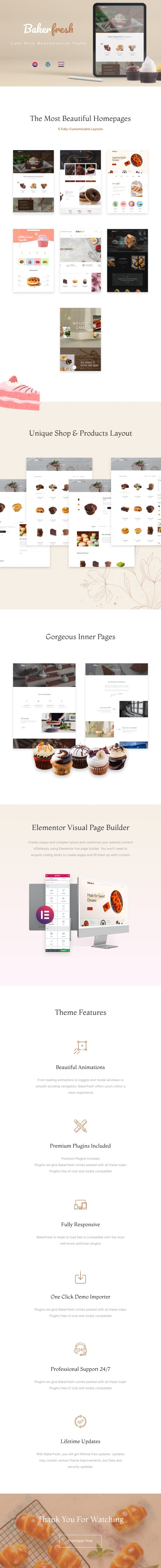 Bakerfresh - Cake Shop WooCommerce Free WordPress Theme