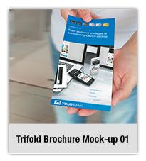 Bifold Brochure Mock-up 02 - 4