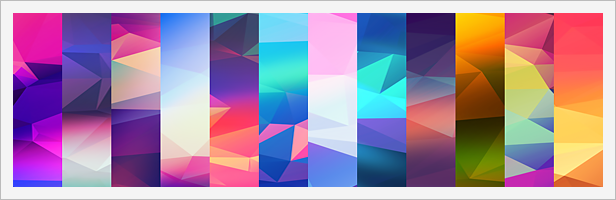 12 Light Leak Polygonal Background Textures #1
