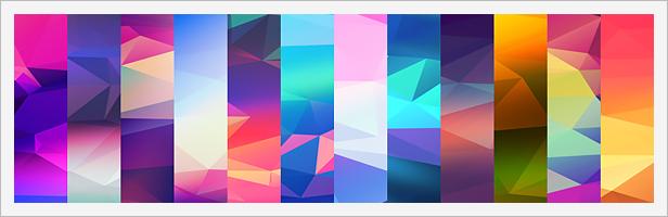 12 Light Leak Polygonal Background Textures #1