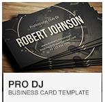 Premium Digital DJ Business Card PSD template