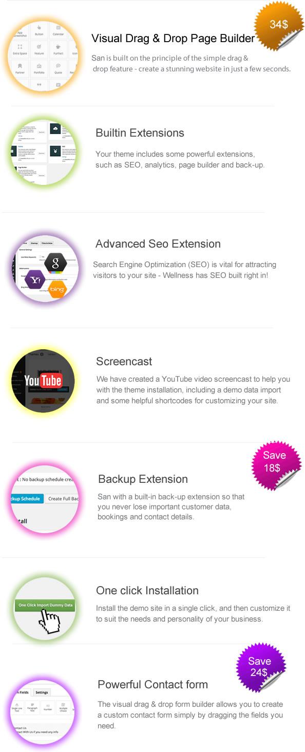 San - Responsive App Landing Page WordPress Theme