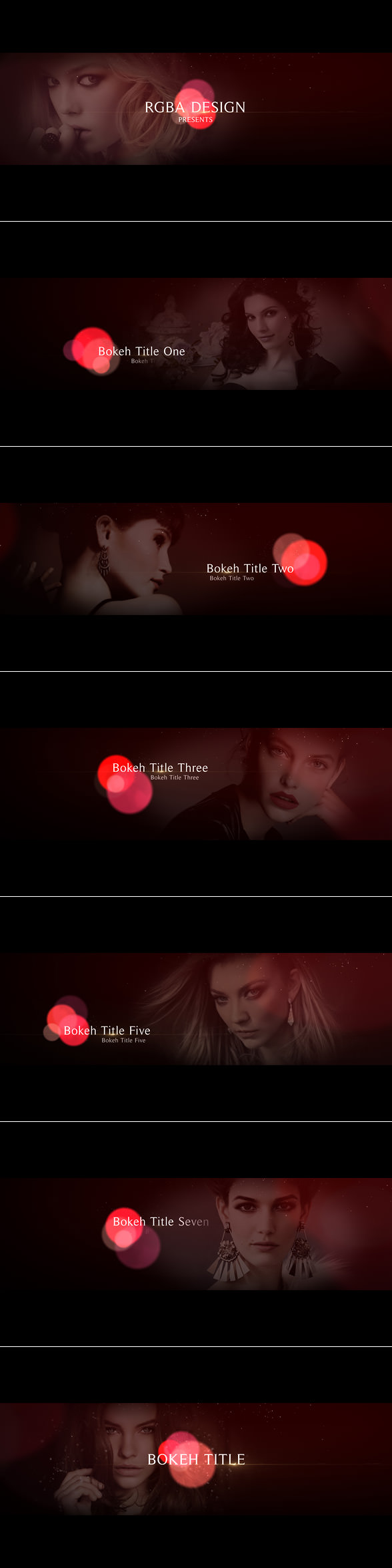 Bokeh Titles After Effects Template elegant bokeh titles project, perfect for movie / TV titles, promo, special event, wedding, fashion / photography slideshow