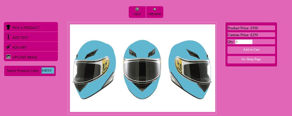 WooCommerce Custom Super Bowl Helmet Designer - 16