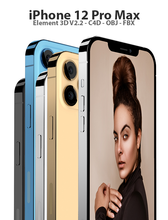 Phone 11 Pro Max for Element 3D and Cinema 4D - 1